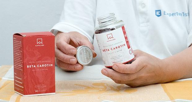 Beta Carotin Kapseln von Aava Labs im Test
