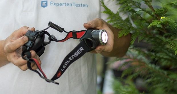 LED-Stirnlampe H7R.2 von Ledlenser im Low-Power-Modus beträgt die Leuchtdauer bis zu 30 Stunden