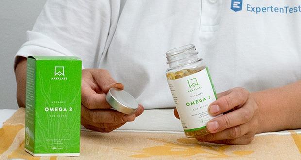 Omega 3 Vegan von Aava Labs - 100% glutenfrei, hexanfrei und vegan; ohne künstliche Farbstoffe oder Konservierungsmittel