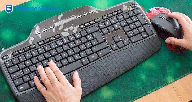 Logitech Wireless Keyboard + Mouse MK710 von FortKnox - Flache Tasten, größerer Tastenhub