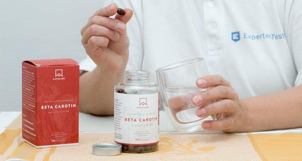 Beta Carotin von Aava Labs - [ 25 000 IE ] mit patentiertem Lyc-O-Beta und Extra Virgin Olivenöl für einen strahlenden Teint