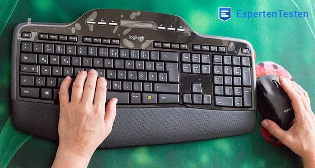 Logitech Wireless Keyboard + Mouse MK710 von FortKnox - Gepolsterte Handballenauflage