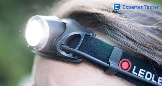 LED-Stirnlampe H7R.2 von Ledlenser mit Akku-Betriebszeit: bis zu 30 Stunden