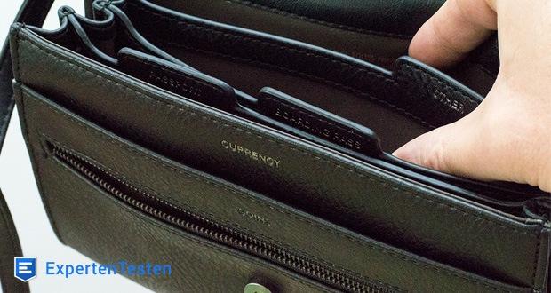 Reisetasche Trek von Matt & Nat mit vielen Funktionen eines großen Portemonnaies