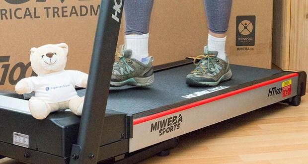 Das Laufband Home Track HT1000F mit incline von Miweba Sports im Test - die Geschwindigkeit bis zu 16 km/h individuell variieren
