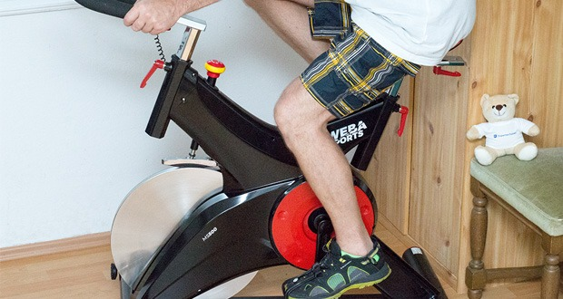 Profi Indoor Cycling MS500 von Miweba Sports - Filz-Bremse mit Not Stopp