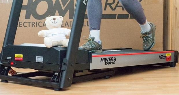 Das Laufband Home Track HT1000F mit incline von Miweba Sports im Test - wählen Sie aus drei Stufen und gestalten Sie Ihr Training individuell!