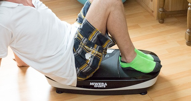 Miweba Sports MV200 3D Vibrationsplatte - das Power Plate von Miweba Sports punktet durch sein geringes Eigengewicht, das die Rüttelplatte jederzeit und an jedem Ort einsatzfähig macht