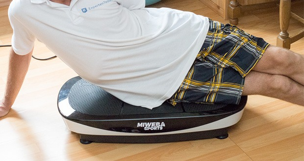 Vibrationsplatte MV200 3D von Miweba Sports - trotz seines Leichtgewichts bietet die Vibrationsplatte eine extra große 3 Zonen Vibrationsplatte (78 cm x 40 cm)