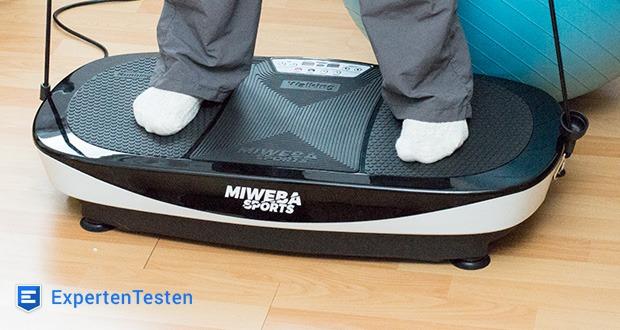 Vibrationsplatte MV200 3D von Miweba Sports - die spezielle Oszillationstechnologie für multidimensionale Schwingungen wird von zwei leistungsstarken 200 Watt Motoren angetrieben
