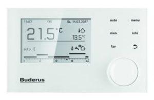 Buderus Gas Brennwertkessel Heizungspaket Logaplus W22 S RC310 24kW Display