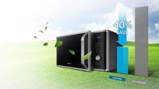 Die Samsung MS28F303TASEG Mikrowelle ist sehr energiesparend im Test