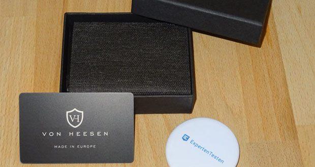 VON HEESEN Mini Geldbeutel im Test - ideal als Geschenkidee dank hochwertiger Geschenkverpackung
