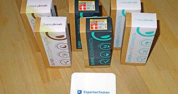 Happybrush SuperCoco, SuperWhite & SuperBlack Zahncremes im Test - ohne Plastik und tierische Inhaltsstoffe