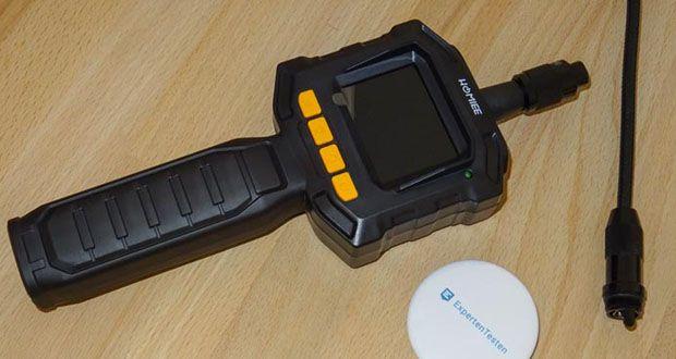 HOMIEE Hand LCD Endoskop Kamera im Test - mini 8mm wasserdichte Kamera mit Teleskopschlauch