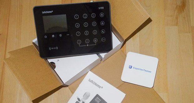 Safe2Home Funk Alarmanlagen Profi Set SP310 - mit RFID Funktion Eingebaute Hochkapazitäts-Lithium Akkus mit 1200mAh halten die Alarmanlage mindestens 12 Stunden Standbye