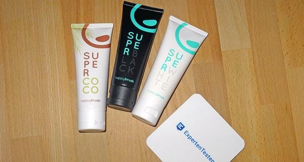 Happybrush SuperCoco, SuperWhite & SuperBlack Zahncremes im Test - vegan, glutenfrei
