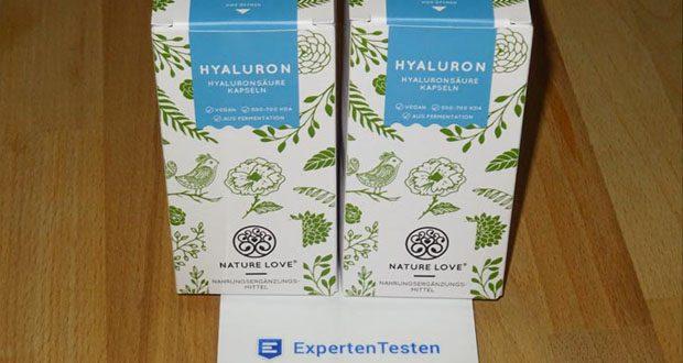 NATURE LOVE Hyaluron Hyaluronsäure Kapseln - Hergestellt in Deutschland in streng geprüften Anlagen