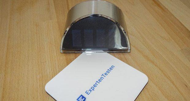 LeiDrail LED Solarleuchte im Test - kann mit dem Klebeband oder mit Schrauben und Ankern montiert werden