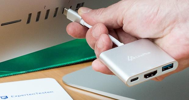 LincPlus USB-C Adapter im Test - überträgt High-Definition-Audio und -Videos mit einer Auflösung von bis zu 4k