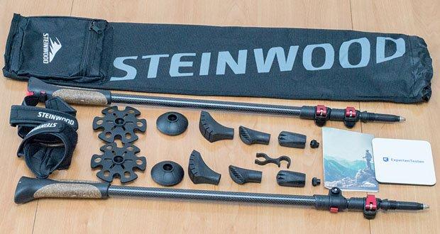 Die Premium Walkingstöcke von Steinwood im Test - die Griffe aus echtem Kork haben eine ergonomische Form und sorgen für eine angenehme Handhabung