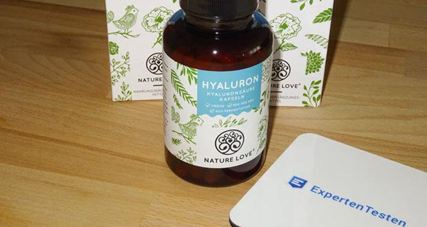 Hyaluron Hyaluronsäure Kapseln von NATURE LOVE - Premiumqualität: Hergestellt in Deutschland in streng geprüften Anlagen