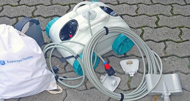 Poolroboter von POOL Total im Test - mit Filter-Korb, leicht zu entnehmen für die Reinigung