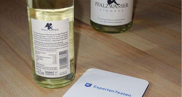 Vinnade Alkoholfrei von Pfalzwasser - Fruchtig-herb, erfrischend, prickelnd