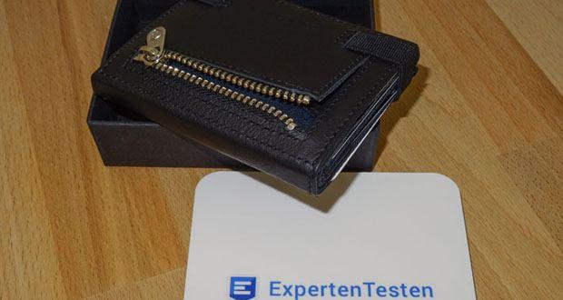 VON HEESEN Mini Geldbeutel überzeugt durch ein geringes Gewicht (50gr) und kompakte Abmessungen (9x7x1,5cm)
