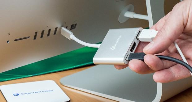 LincPlus 3-in-1 USB C-Multiport-Adapter im Test mit Übertragungsrate von bis zu 5 Gbit / s