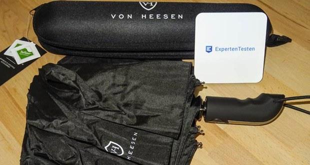 VON HEESEN Regenschirme im Test - 9-fach verstärkte Rahmenkonstruktion