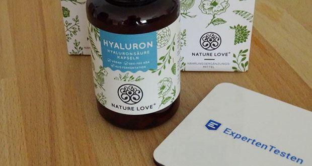 NATURE LOVE Hyaluron Hyaluronsäure Kapseln - Hochdosiert mit 500mg reine Hyaluronsäure je Kapsel