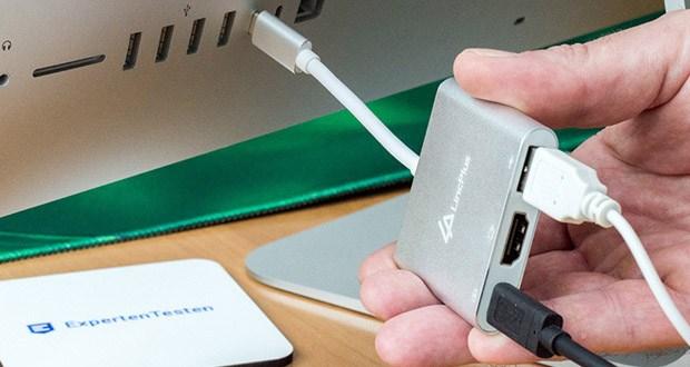 LincPlus 3-in-1 USB C-Multiport-Adapter mit USB 3.0-Anschluss: Hohe Datenübertragungsgeschwindigkeit
