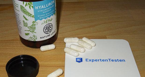 NATURE LOVE Hyaluron Hyaluronsäure Kapseln - 90 Kapseln im 3 Monatsvorrat