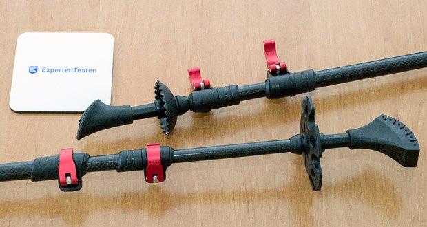 Die Walkingstöcke von Steinwood im Test - erfahren Sie ein optimales Schwungverhalten bei einem Rohrdurchmesser von 16 mm mit einer Hartmetall Flex Tip Spitze