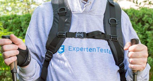 Steinwood Trekkingrucksack mit Klettverschluss zum Fixieren von Wanderstöcken & Equipment