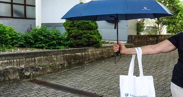 VON HEESEN Regenschirm sturmfest bis 140 km/h Windgeschwindigkeit