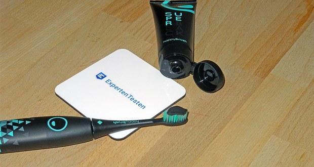 Die elektrische Schallzahnbürste von happybrush mit 40.000 hoch-effektiven Vibrationen im Test