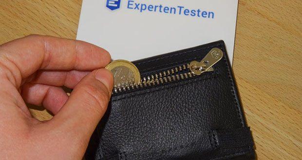 Die Ledergeldbörse VON HEESEN im Test - 5 Kartenfächer für bis zu 10 Karten, 1 Scheinfach, 1 Mini-Münzfach auf der Rückseite