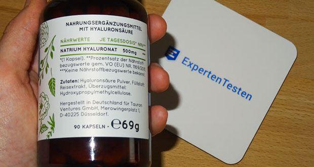 Hyaluron Hyaluronsäure Kapseln von NATURE LOVE - Frei von unerwünschten Lebensmittel-Zusatzstoffen wie Magnesiumstearat