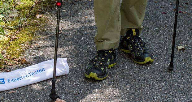 Steinwood Nordic Walking Stöcke im Test - nur ca. 200 g Gewicht pro Stock