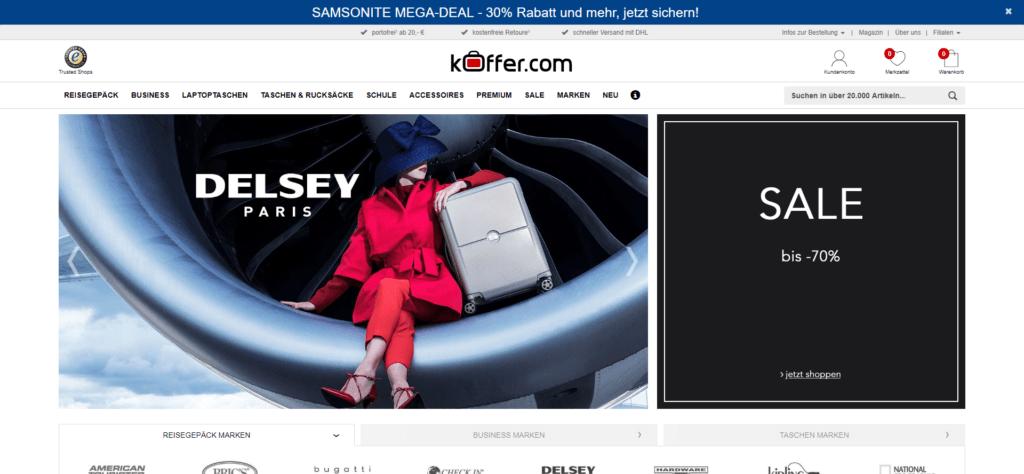 Wir haben den KOFFER.COM Online-Koffershop getestet