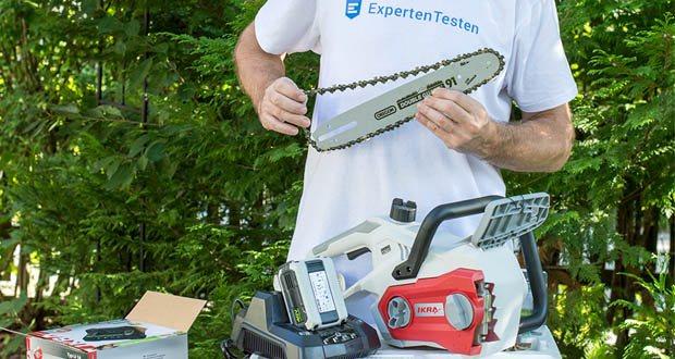 IKRA Akku Kettensäge IAK 40-3025 im Test - Werkzeuglose Kettenmontage & Kettenspannung / automatische Kettenschmierung