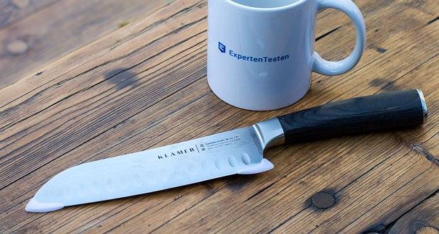 KLAMER Santoku Damastmesser im Test - 67-fach gefalteter japanischer Damaszner Stahl