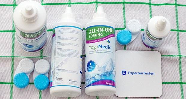 Kontaktlinsen Fluessigkeit von YogaMedic im Test - Kontaktlinsenlösung für Kontaktlinsen aller Art (speziell für weiche Silikon-Hydrogel)