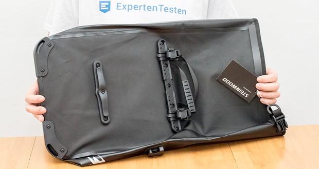 Steinwood Premium Fahrradtasche im Test - Einfache Montage ohne Werkzeug