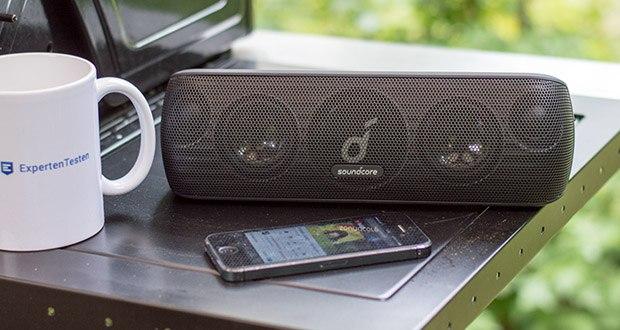 Soundcore Motion+ Bluetooth-Lautsprecher von Anker im Test - ein Ladevorgang reicht für über 12 Stunden Spielzeit oder 240 Lieder aus deiner Playlist