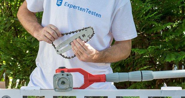 IKRA Elektro Kombi 2in1 Teleskop Heckenschere Entaster ITHK 800 im Test - Automatische Kettenschmierung / Ölstandsanzeige
