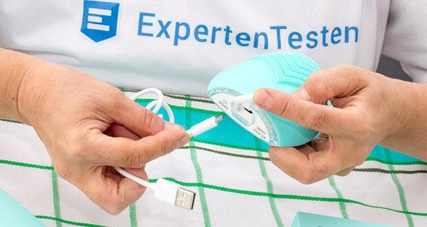 SUNMAY Leaf Facial Cleanser Gesichtsreinigungsbürste im Test - wiederaufladbar, wird mit USB-Kabel zum einfachen Aufladen geliefert