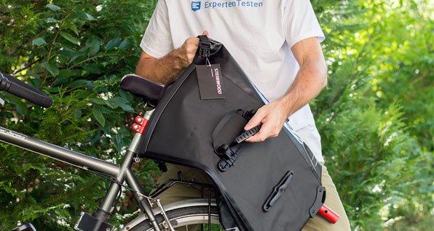 Steinwood Premium Fahrradtasche im Test - asserdicht, hitzebeständig, völlig geruchlos und leicht zu reinigen